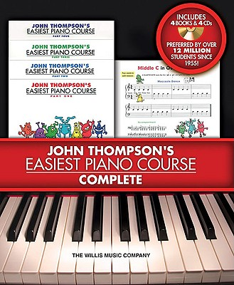 John Thompson's Easiest Piano Course- Complete By Thompson, John
